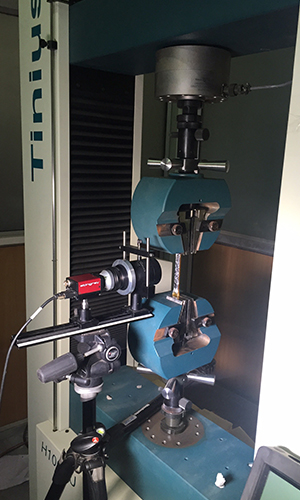 Tinius Olsen 100kN UTM with Imetrum Video Extensometer